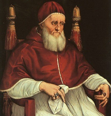 Il Papa Giulio II ritratto da Raffaello 1