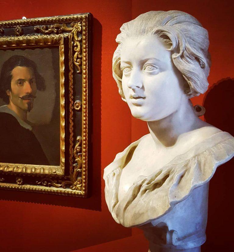 Busto di Costanza Bonarelli e ritratto di Gian Lorenzo Bernini