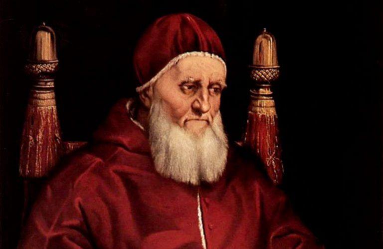 papa Giulio II ritratto da Raffaello