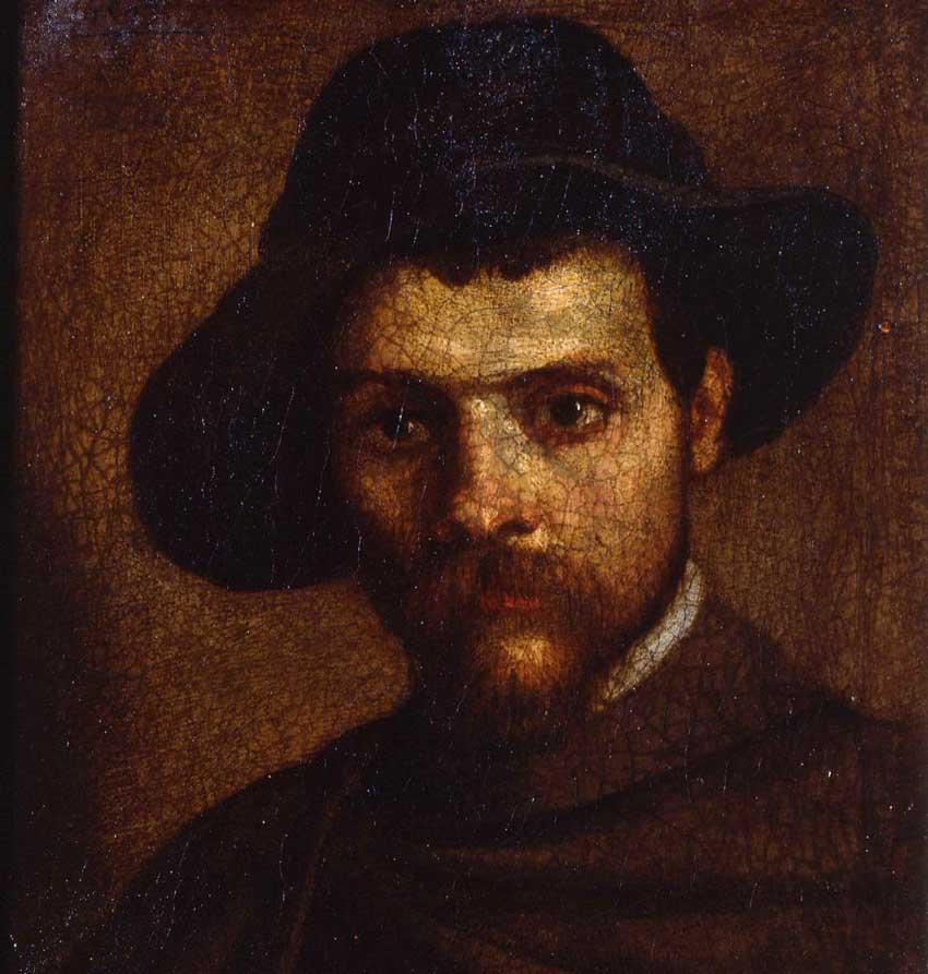 Annibale Carracci Autoritratto col cappello a quattracque