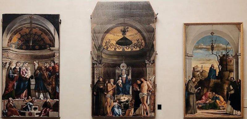 Pala di San Giobbe di Giovanni Bellini alle Gallerie dell'Accademia di Venezia