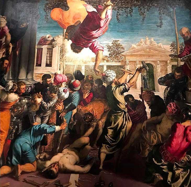 San Marco libera uno schiavo del Tintoretto alle Gallerie dell'Accademia di Venezia