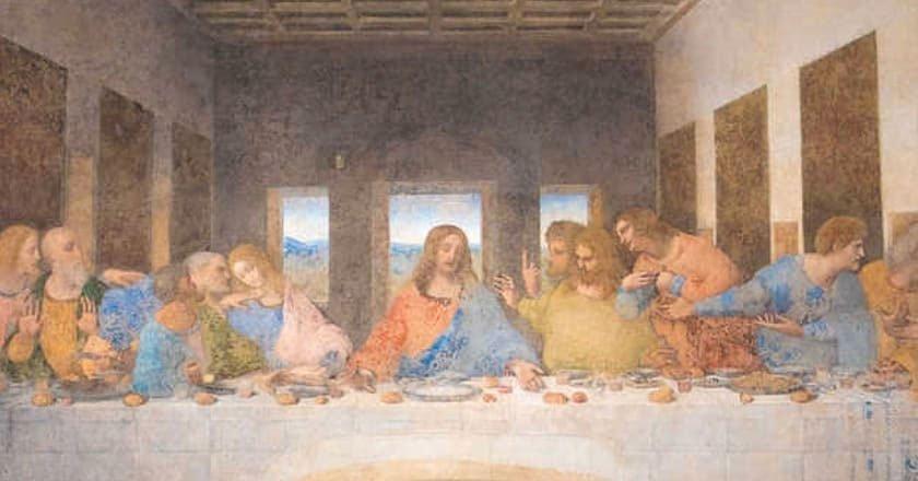Il Cenacolo di Leonardo da Vinci nel refettorio del Convento di Santa Maria delle Grazie