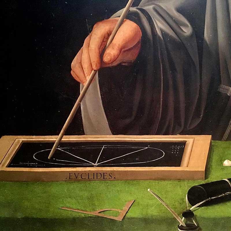 Ritratto di Fra Luca Pacioli particolare