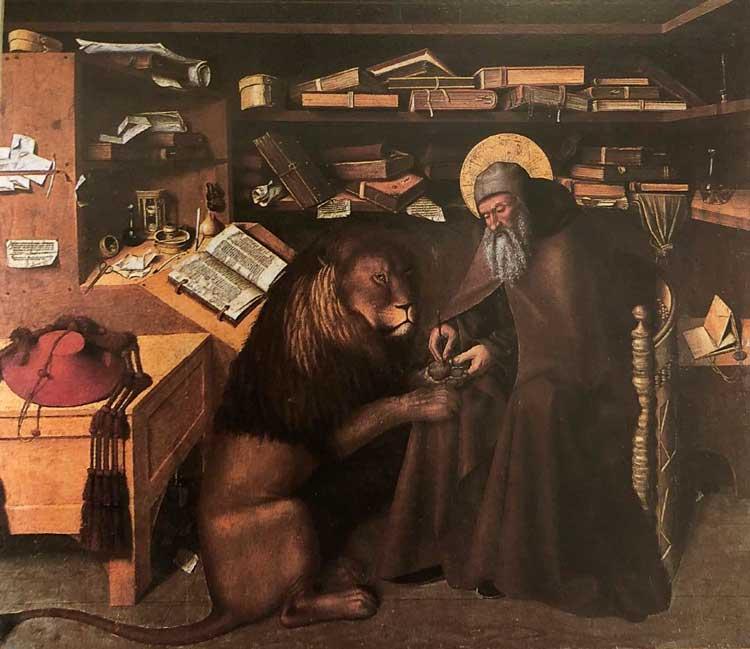 San Girolamo nello studio opera del pittore Colantonio