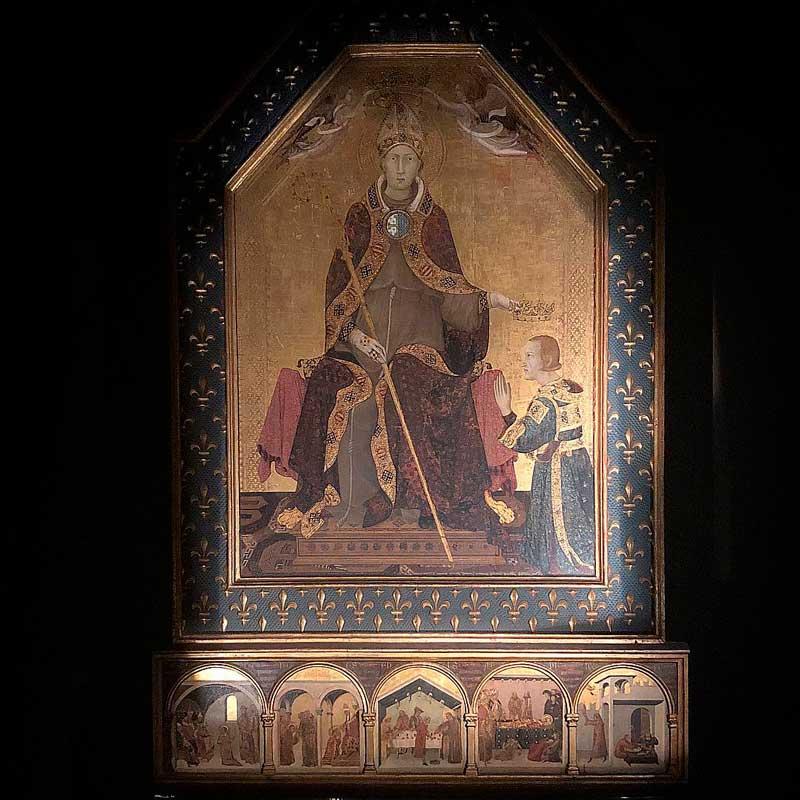 San Ludovico di Tolosa dipinto da Simone Martini