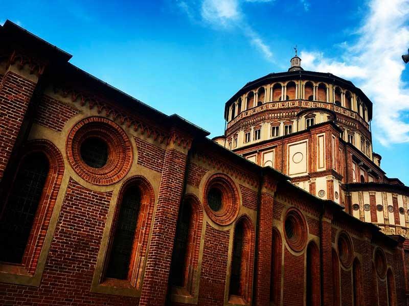 Tribuna della chiesa di Santa Maria delle Grazie di Donato Bramante