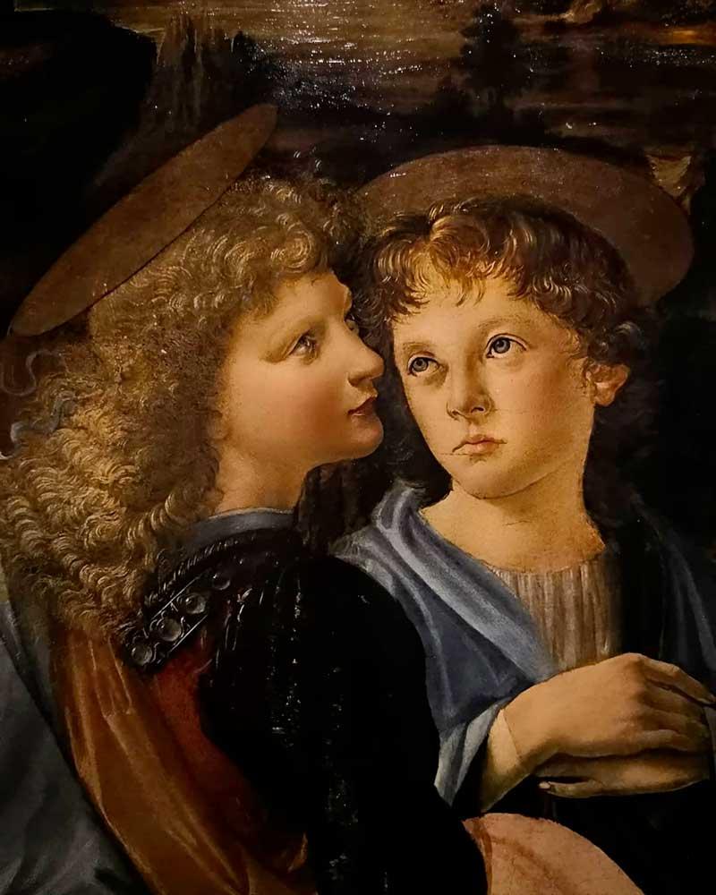 il battesimo di cristo verrocchio particolare angelo