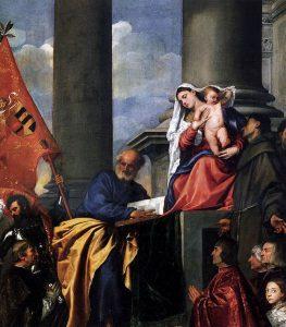 """<span class=""""entry-title-primary"""">TIZIANO VECELLIO: pittore ricchissimo e uomo accorto</span> <span class=""""entry-subtitle"""">1 opera del """"primer pintor"""": la Pala Pesaro</span>"""