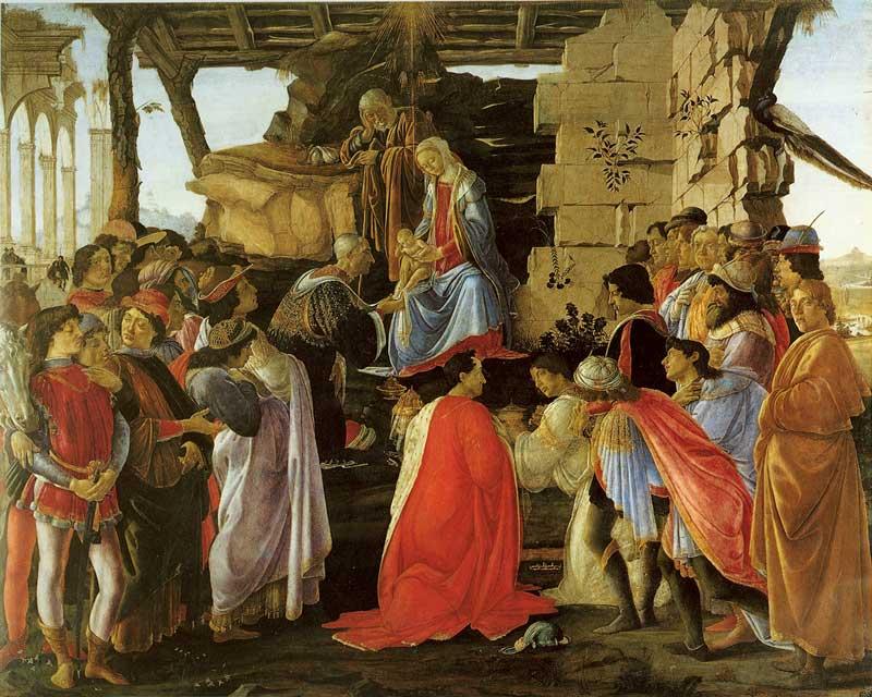 Botticelli adorazione dei magi uffizi