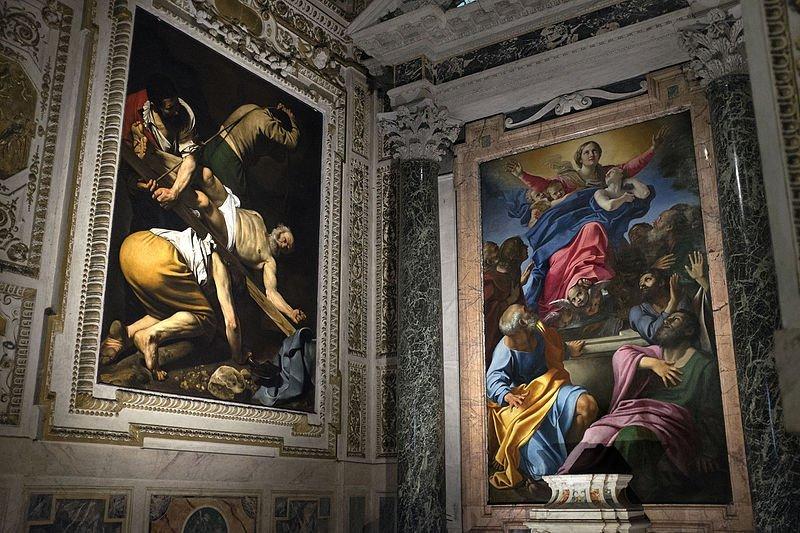 Annibale Carracci e Caravaggio Cappella Cerasi