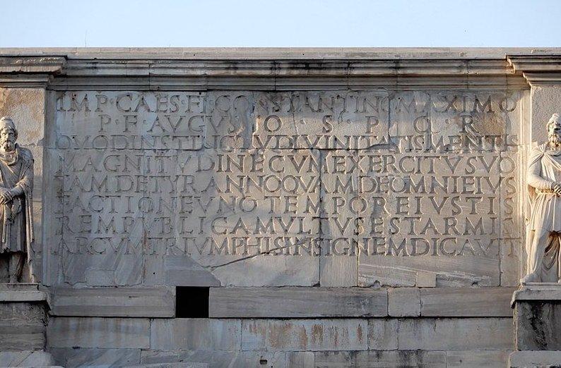Iscrizione Arco di Costantino Roma
