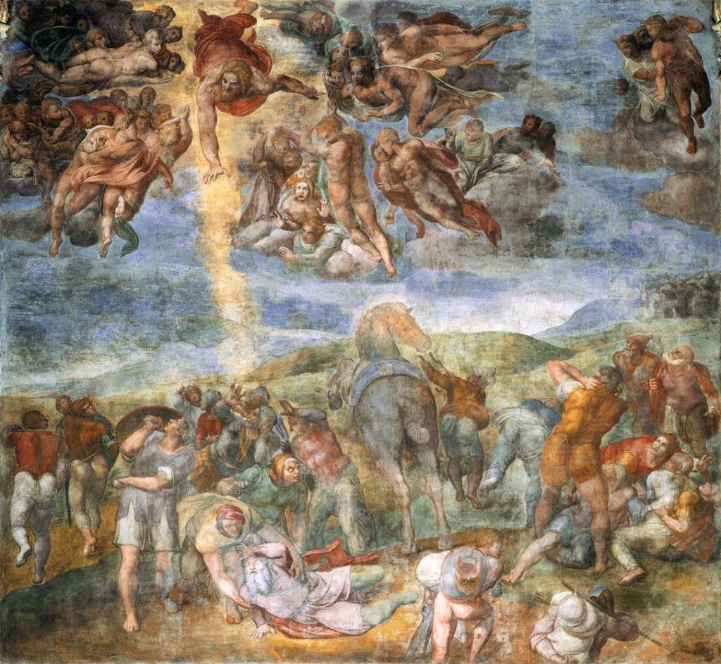Michelangelo paolina conversione di saulo