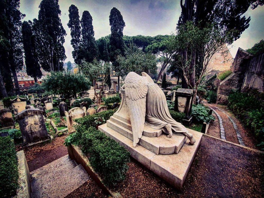 cimitero Acattolico roma veduta