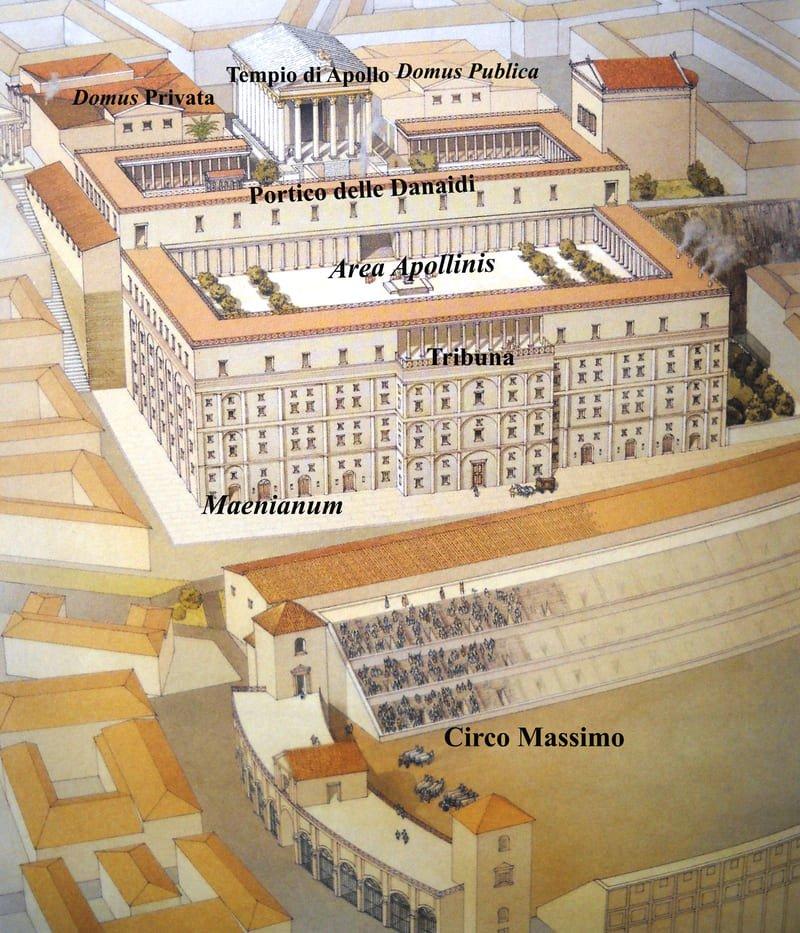 Foto 4 ricostruzione 3d casa di augusto palatinoDa A. Carandini La casa di Augusto Tav. II 2010