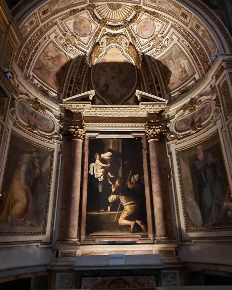 le opere di caravaggio a roma cappella Cavalletti