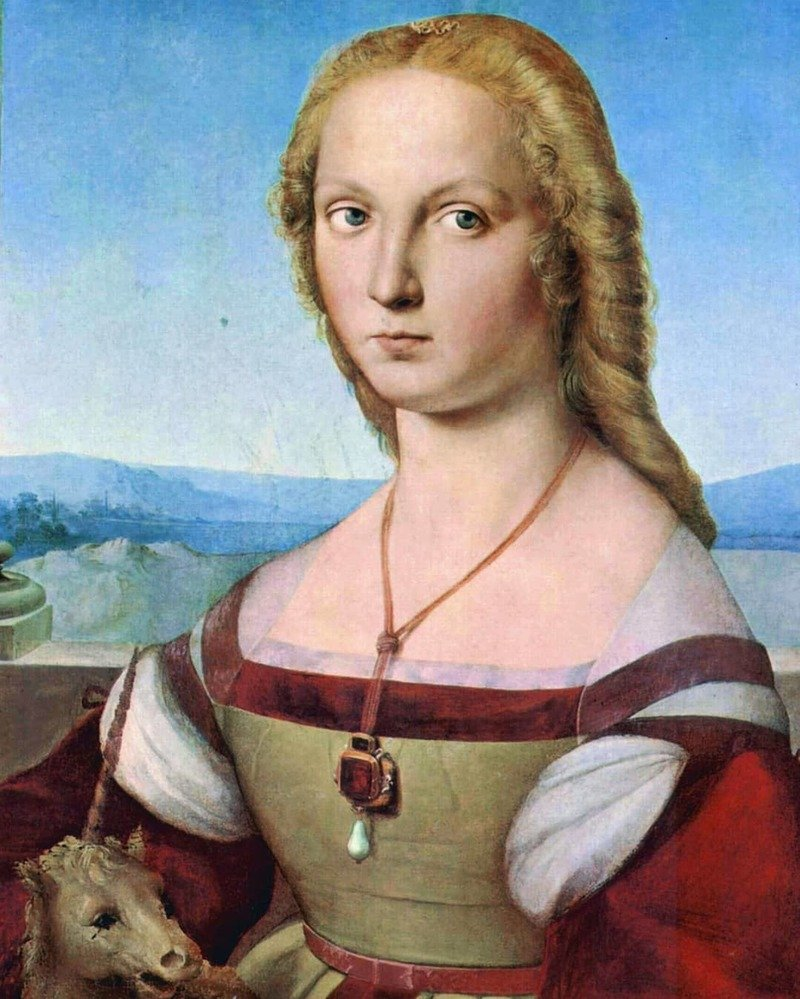 raffaello Sanzio dama col liocorno