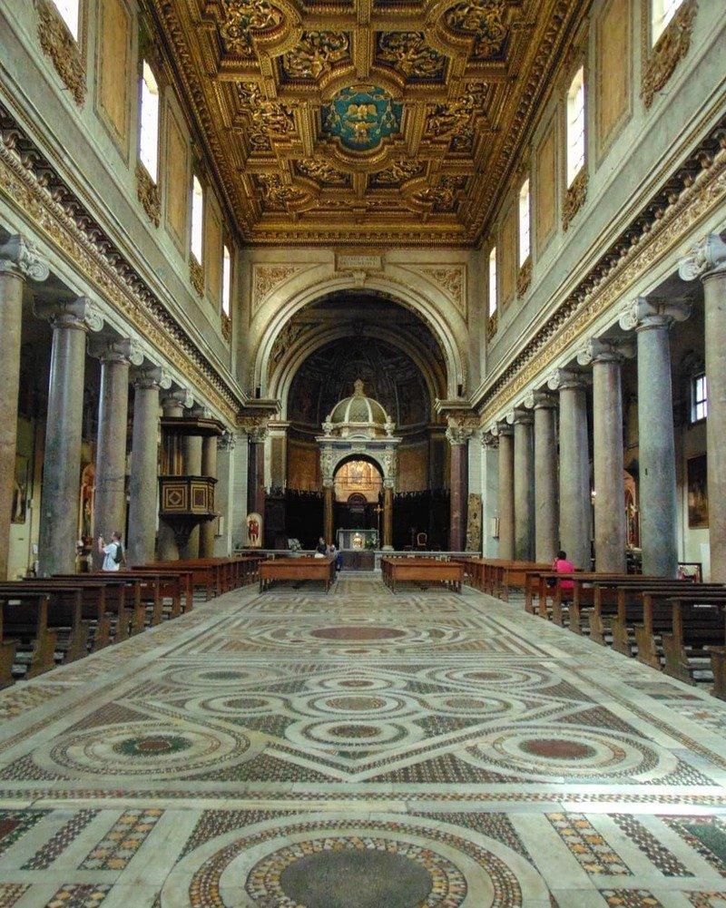 basilica San Crisogono pavimento Cosmatesco